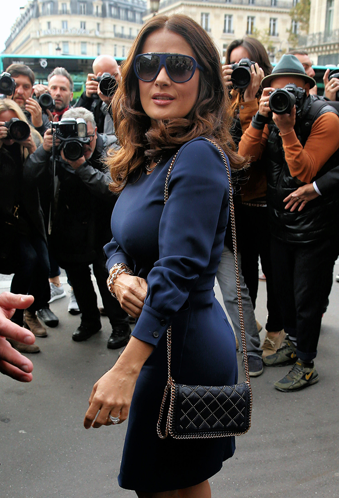 Salma-Hayek-Stella-McCartney-Falabella-Mini-Studded-Bag