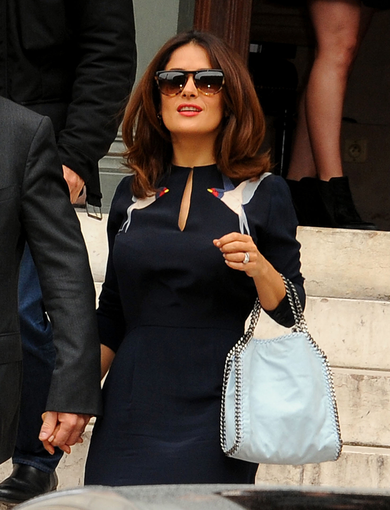 Salma-Hayek-Stella-McCartney-Small-Falabella-Bag-Baby-Blue