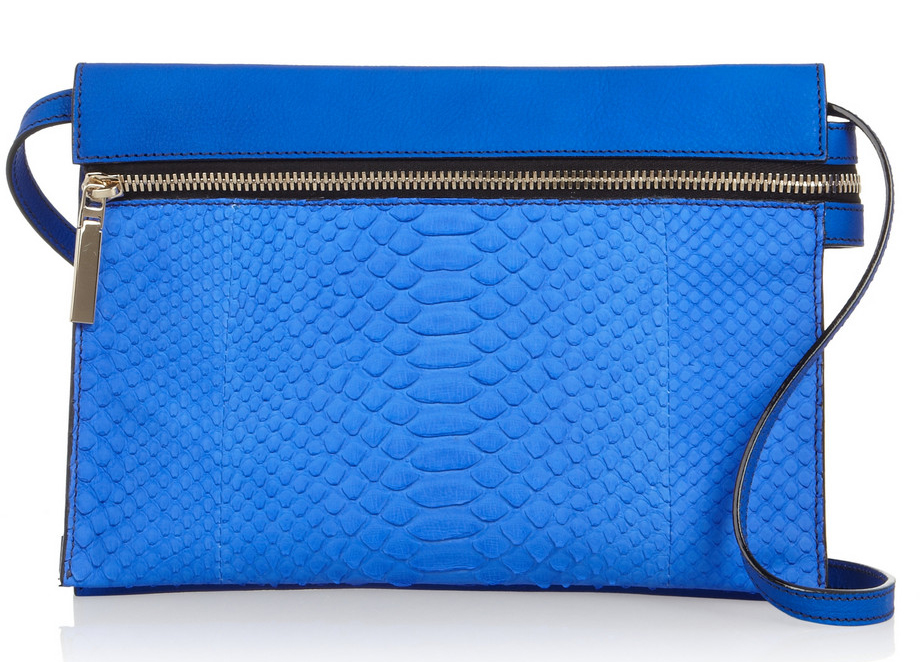 Victoria-Beckham-Python-and-Textured-Leather-Shoulder-Bag