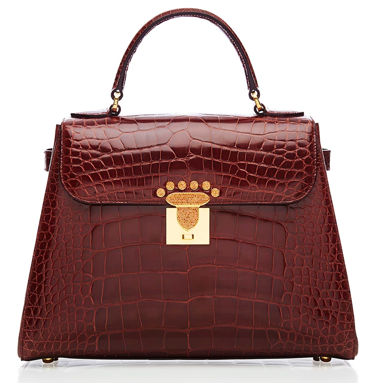 Asprey-167-Crocodile-Bag-with-18k-Gold-and-Cognac-Diamond-Hardware