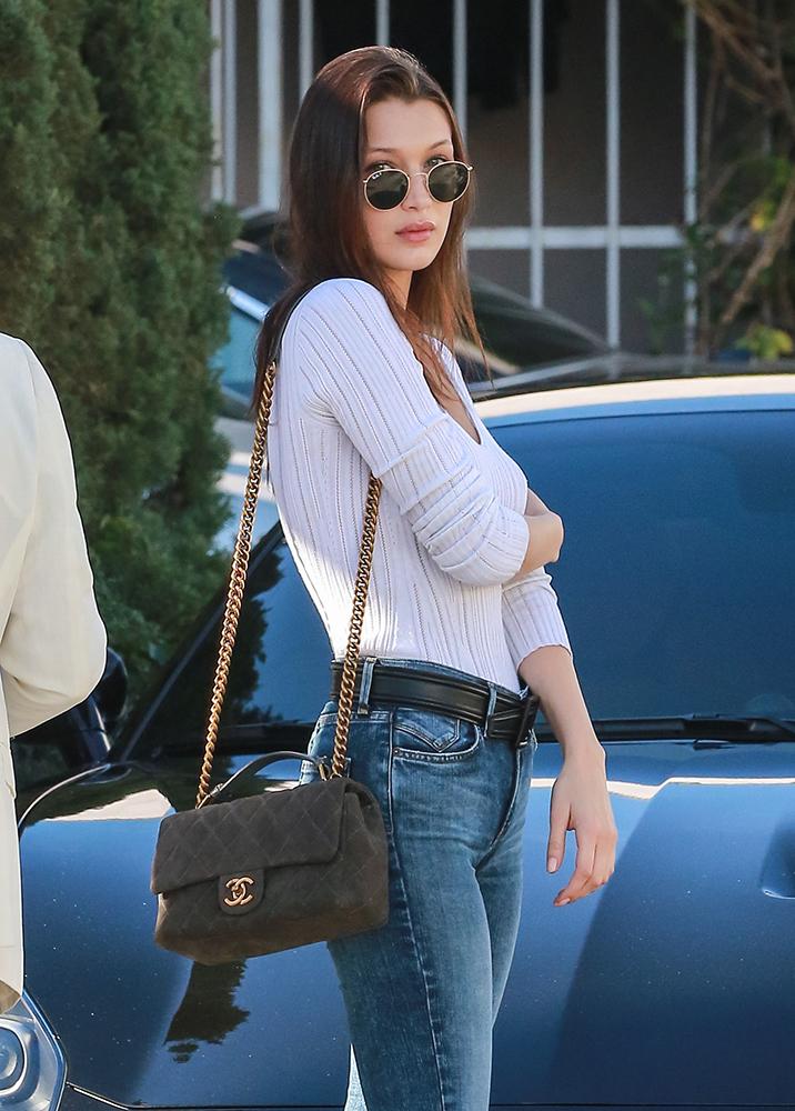 Bella-Hadid-Chanel-Flap-Bag