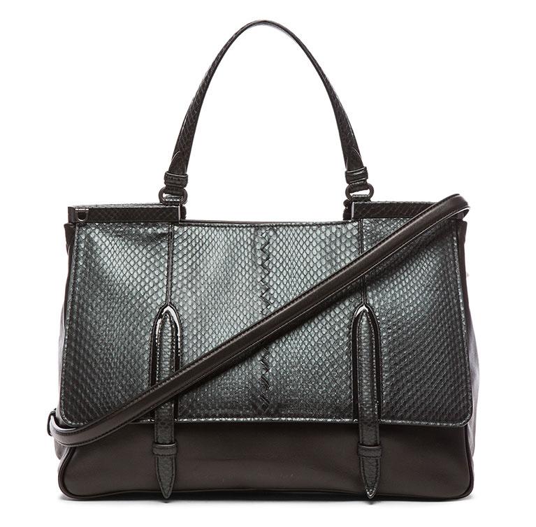 Bottega-Veneta-Snakeskin-Top-Handle-Bag