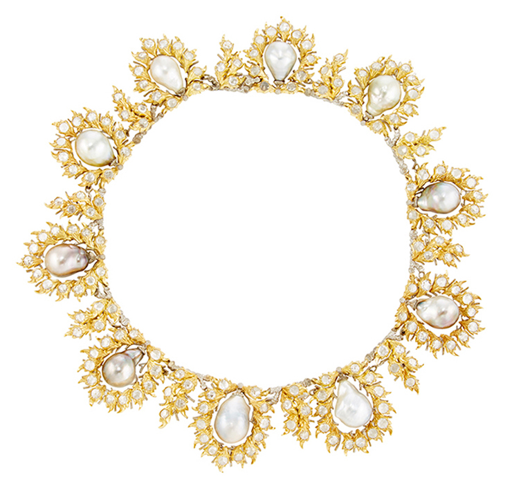 Buccellati-Baroque-Pearl-and-Diamond-Necklace