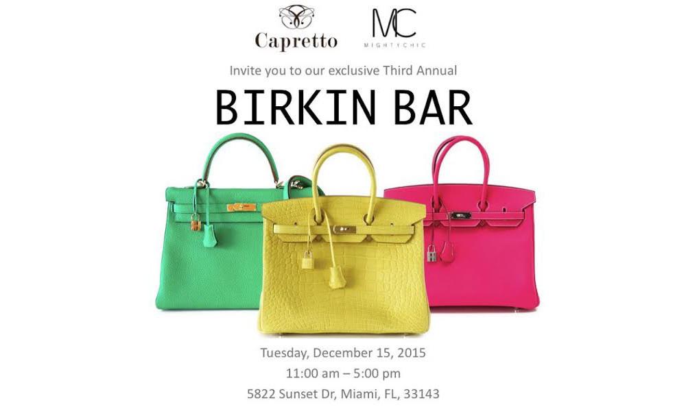 Capretto Birkin Bar