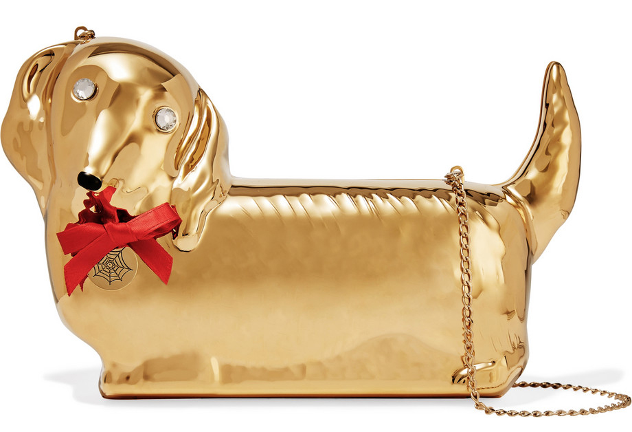 Charlotte-Olympia-Axel-Dachshund-Gold-Plated-Clutch