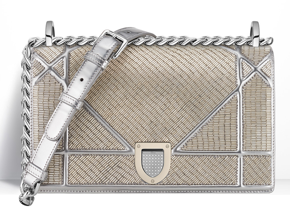 Christian-Dior-Diorama-Beaded-Metallic-Bag