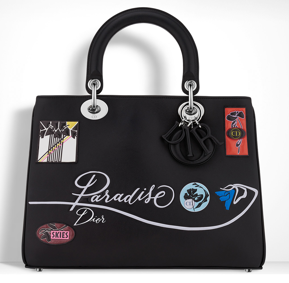 Christian-Dior-Diorissimo-Black-Embroidered-Bag