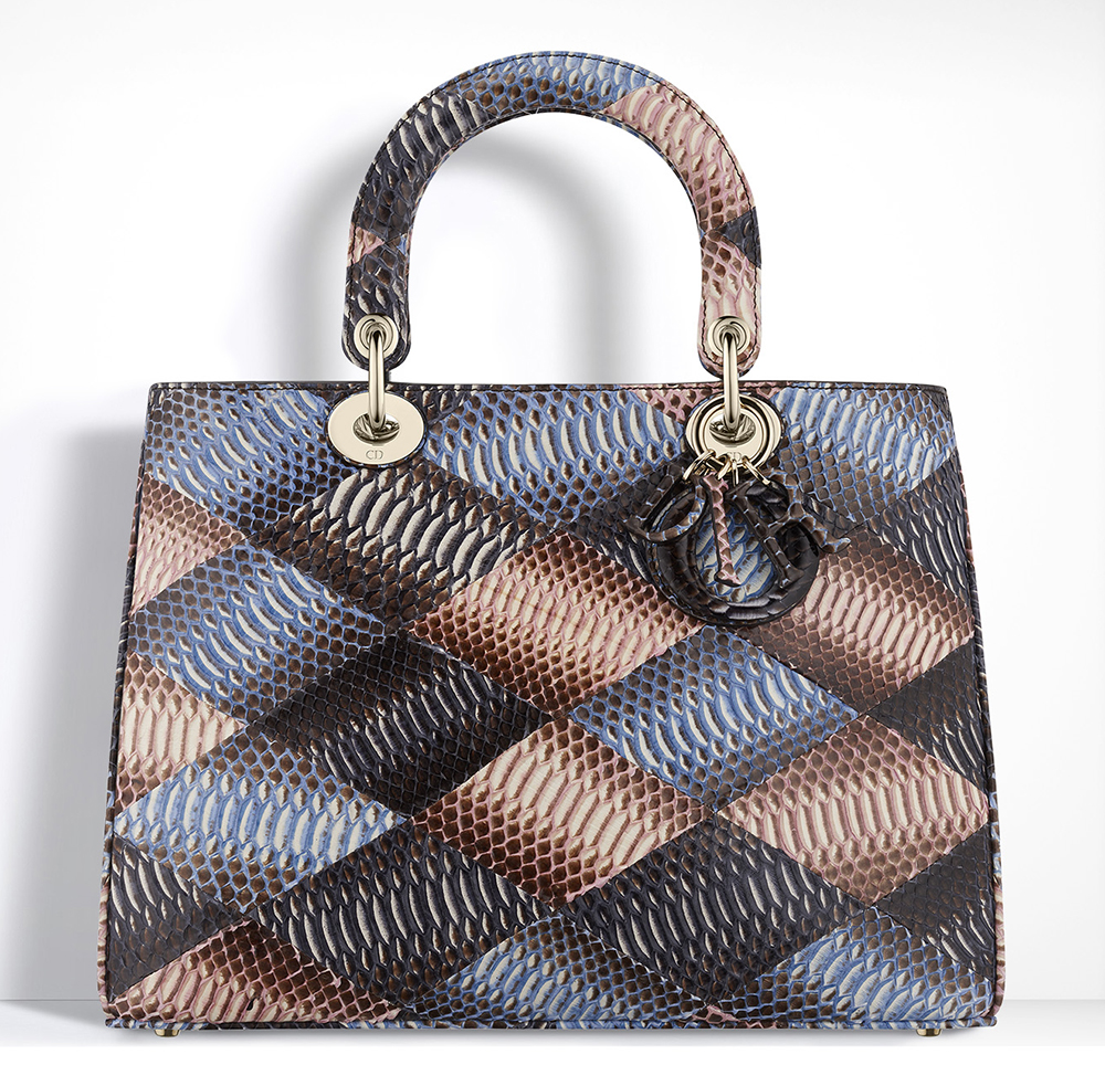 Christian-Dior-Diorissimo-Snakeskin-Patchwork-Bag