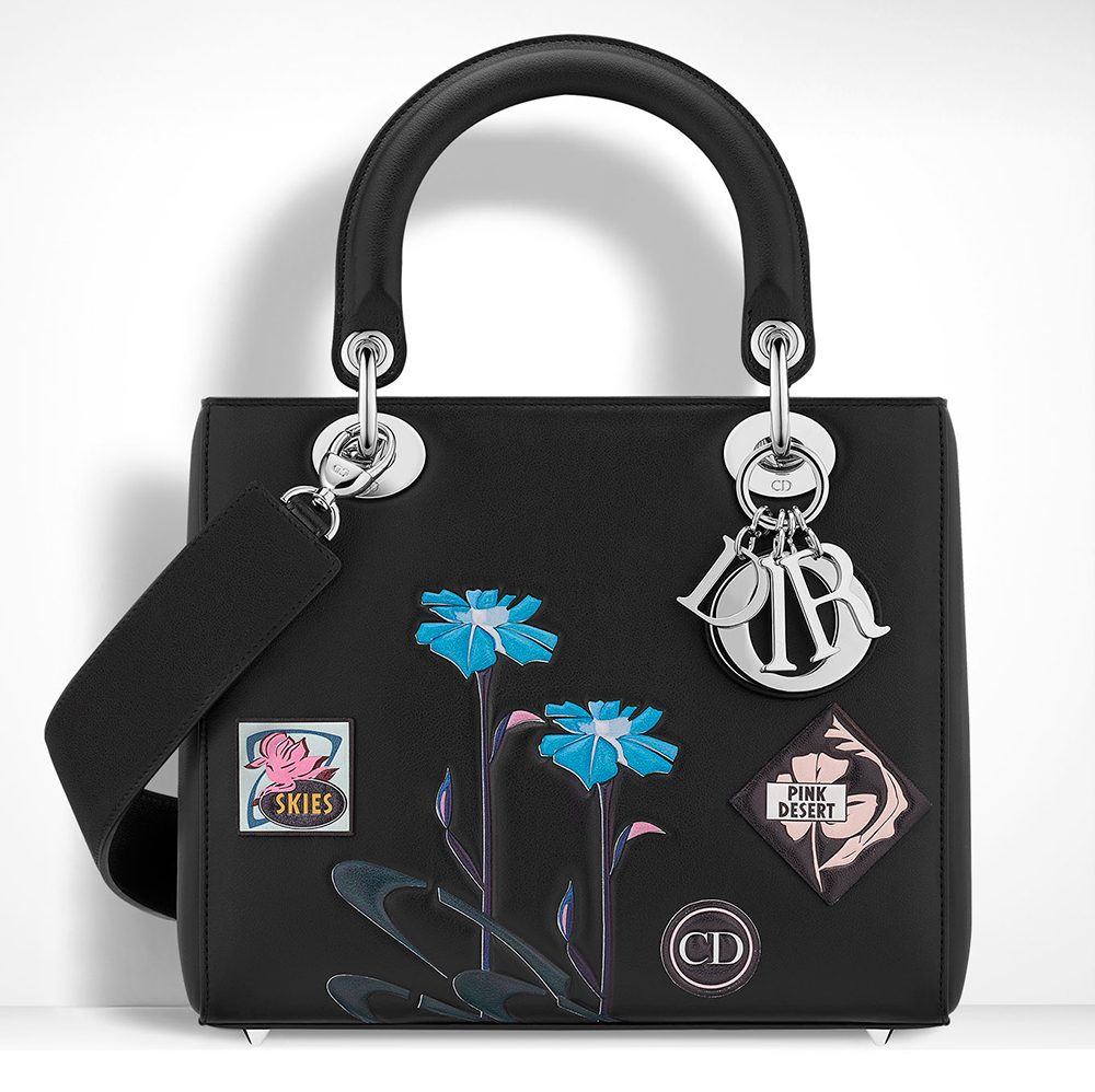 Christian-Dior-Lady-Dior-Bag-Black-Embroidered