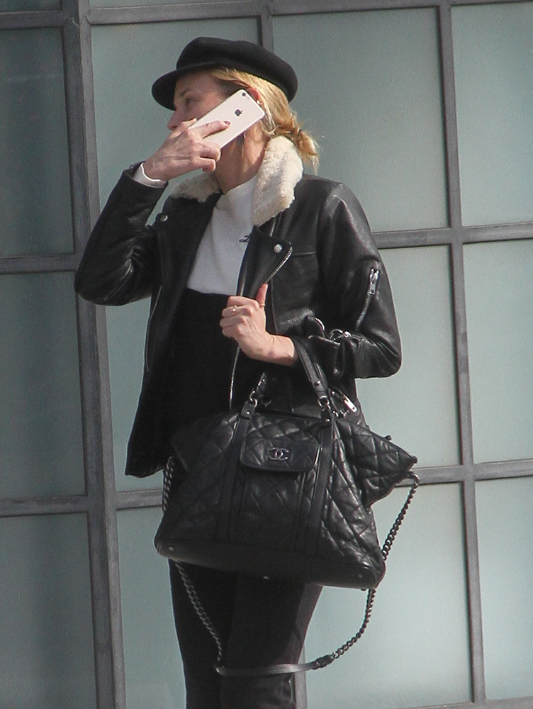 Diane-Kruger-Chanel-Quilted-Satchel