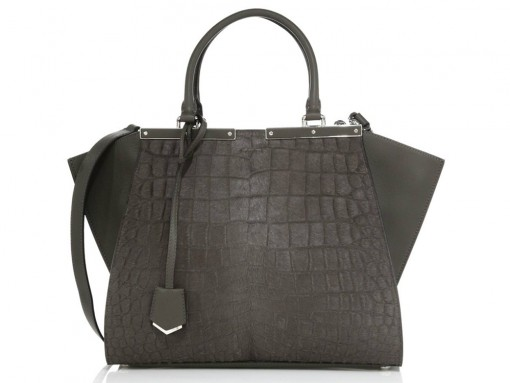 Fendi-Croc-Embossed-3Jours-Bag