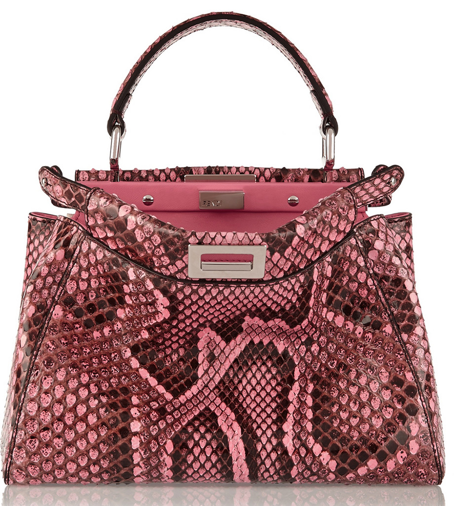 Fendi-Peekaboo-Mini-Python-Bag