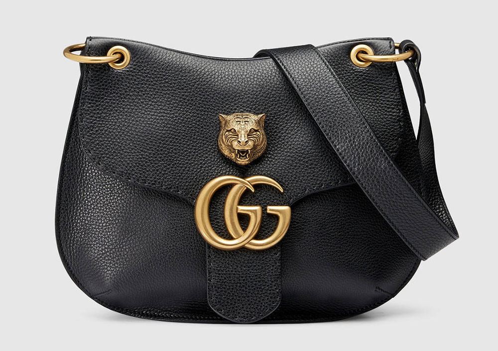 GG Marmont Leather Shoulder Bag