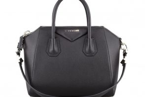 Givenchy Antigona Sugar Goatskin Bag in Black