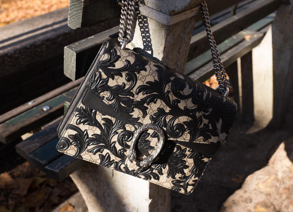 2a513229a2b7f6 Gucci Dionysus Arabesque Shoulder Bag - PurseBlog