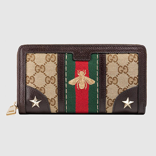 Gucci Bee Web Embroidered Wallet