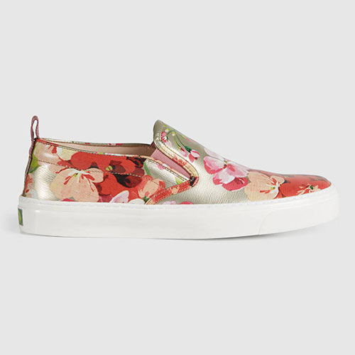 Gucci Blooms Metallic Leather Sneaker