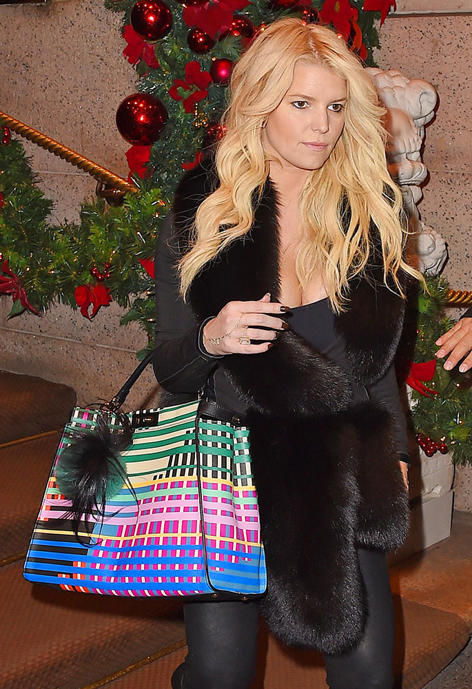 Jessica-Simpson-Fendi-Striped-Peekaboo-Bag