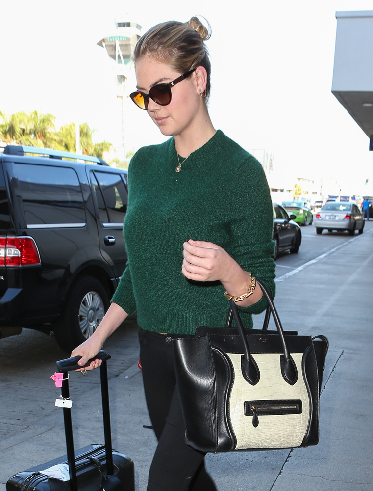 Kate-Upton-Celine-Bicolor-Luggage-Tote