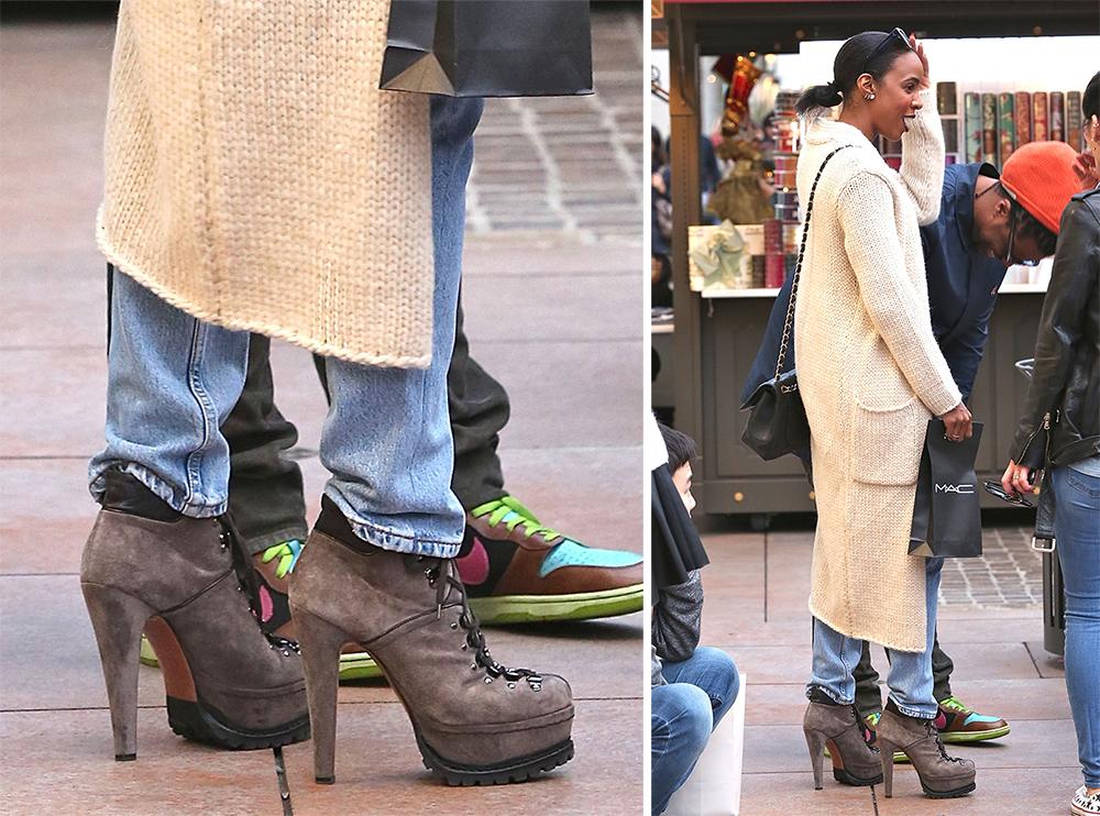 Kelly-Rowland-Alaia-Platform-Hiking-Boots