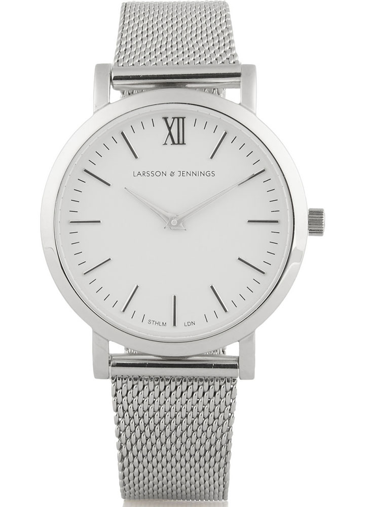 Larson-and-Jennings-Liten-Silver-Plated-Watch