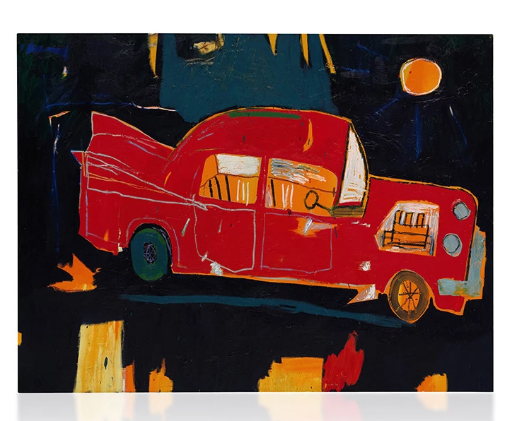 Rusting-Red-Car-in-Kuau-by-Jean-Michel-Basquiat