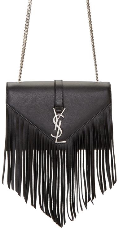 Saint-Laurent-Monogramme-Fringe-Bag