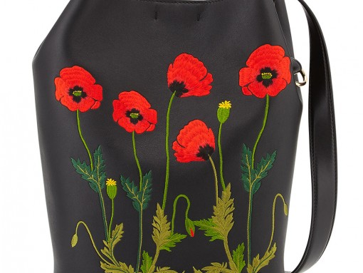 """Fill in the Blank: """"The Stella McCartney Flower-Embroidered Bucket Bag makes me want to…"""""""