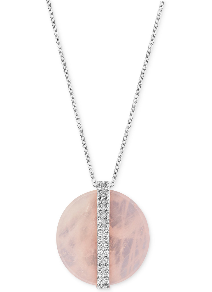 Swarovski-Crystal-and-Disc-Pendant-Necklace