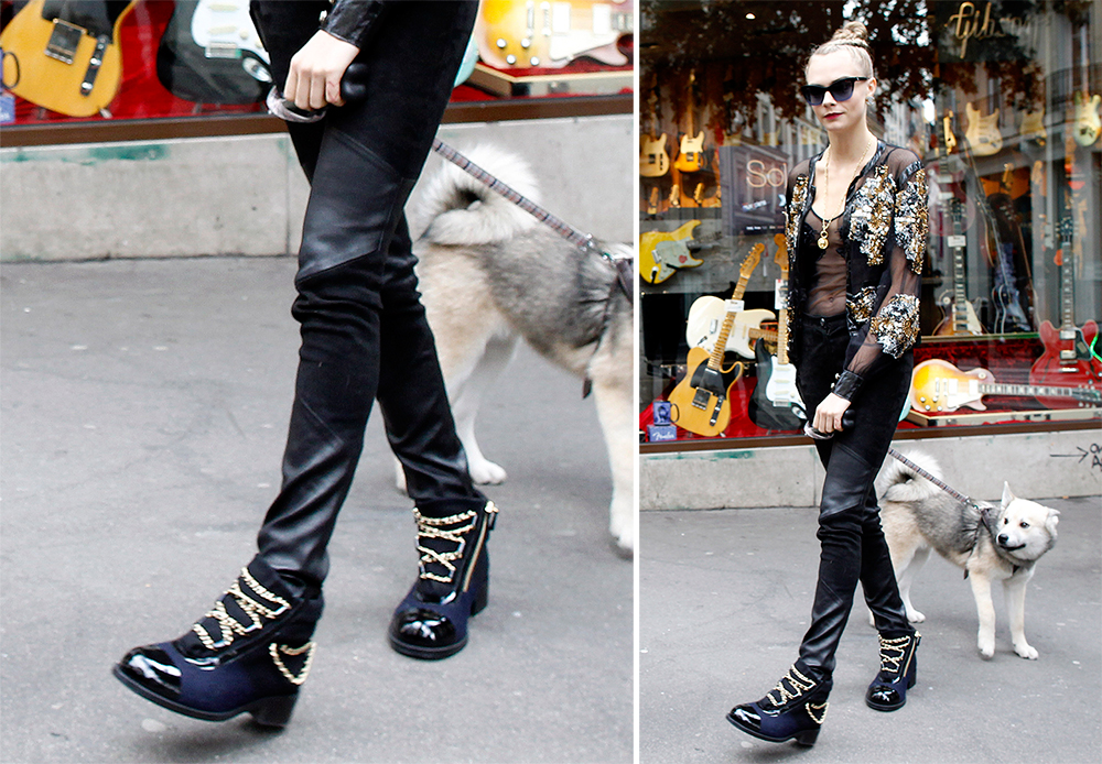 775060edeabb Chanel Chain Embellished Boots