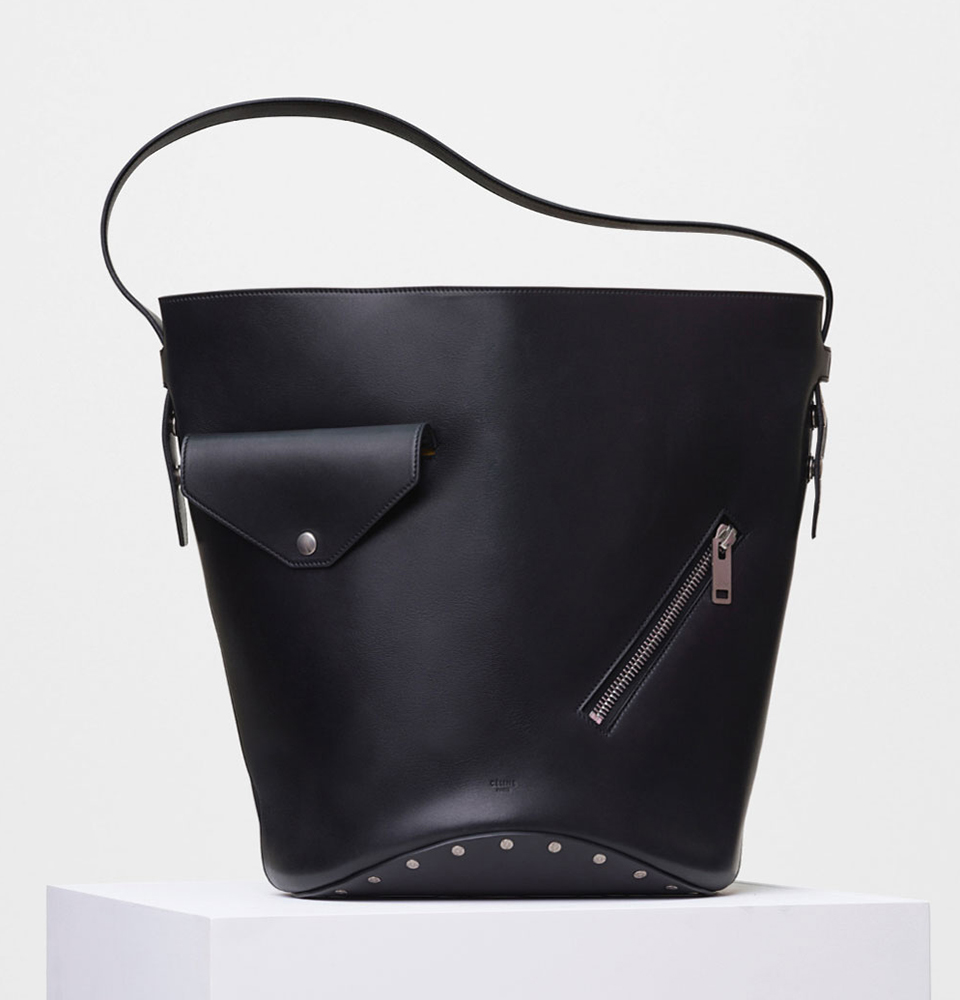 Celine-Biker-Bucket-Bag-Black-3400