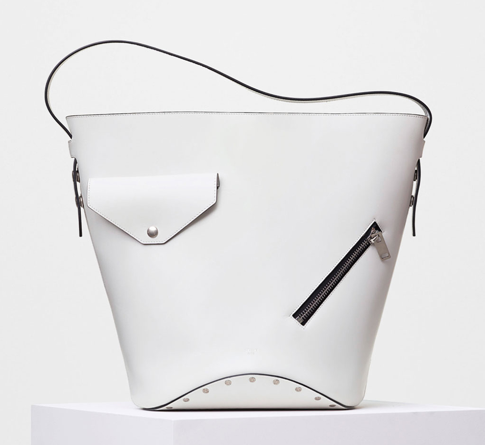 Celine-Bucket-Biker-Shoulder-Bag-White-3400