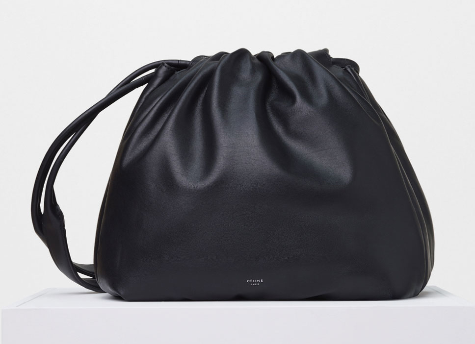 Celine-Bucket-Pillow-Shoulder-Bag-Black-2800