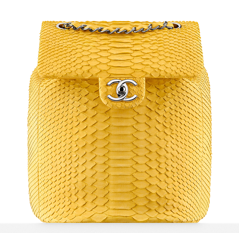 Chanel-Python-Backpack-Yellow