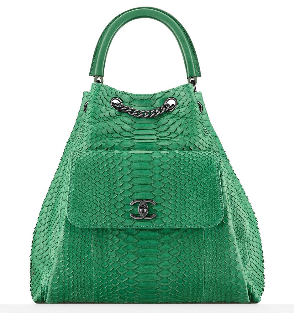 Chanel-Python-Drawstring-Handbag