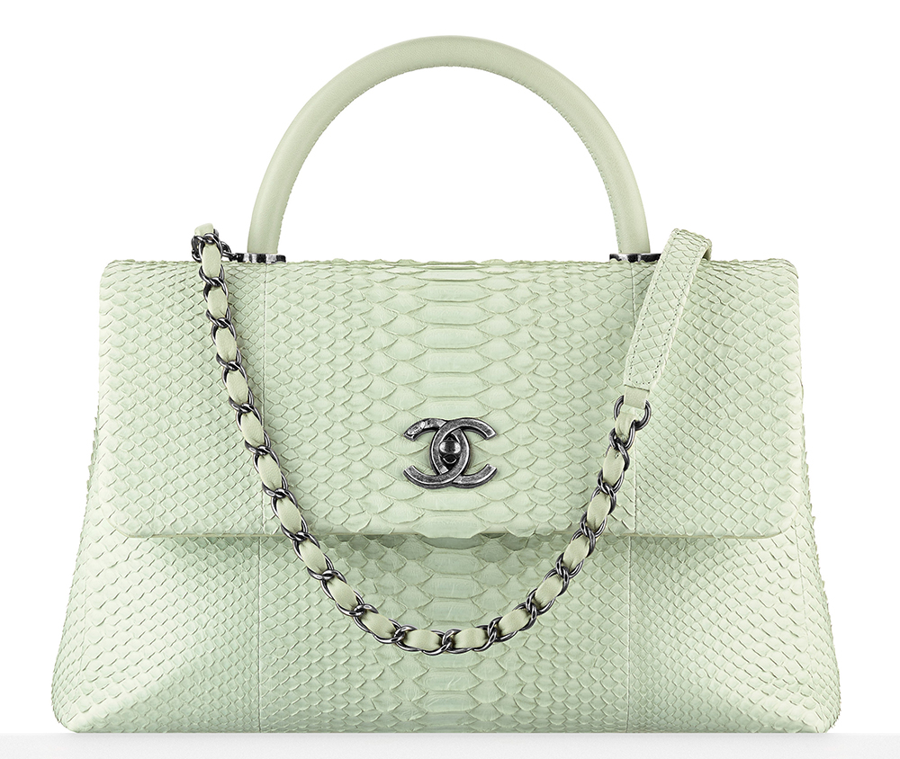 Chanel-Python-Top-Handle-Flap-Bag