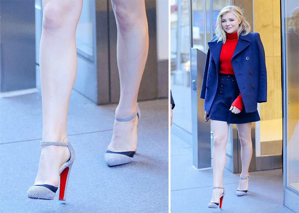 Chloe-Moretz-Christian-Louboutin-Ankle-Strap-Pumps