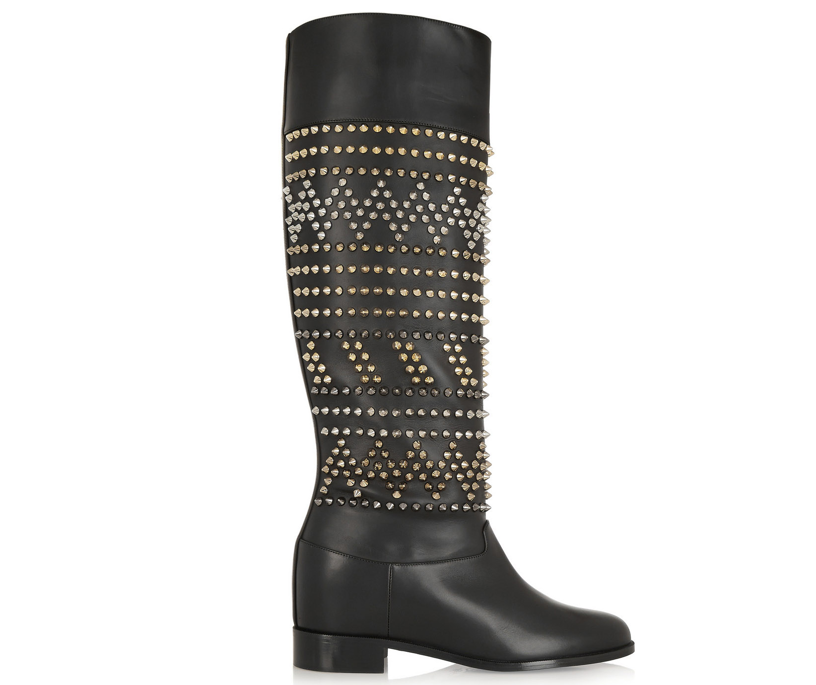Christian Louboutin Rom Chic Spiked Leather Knee Boots