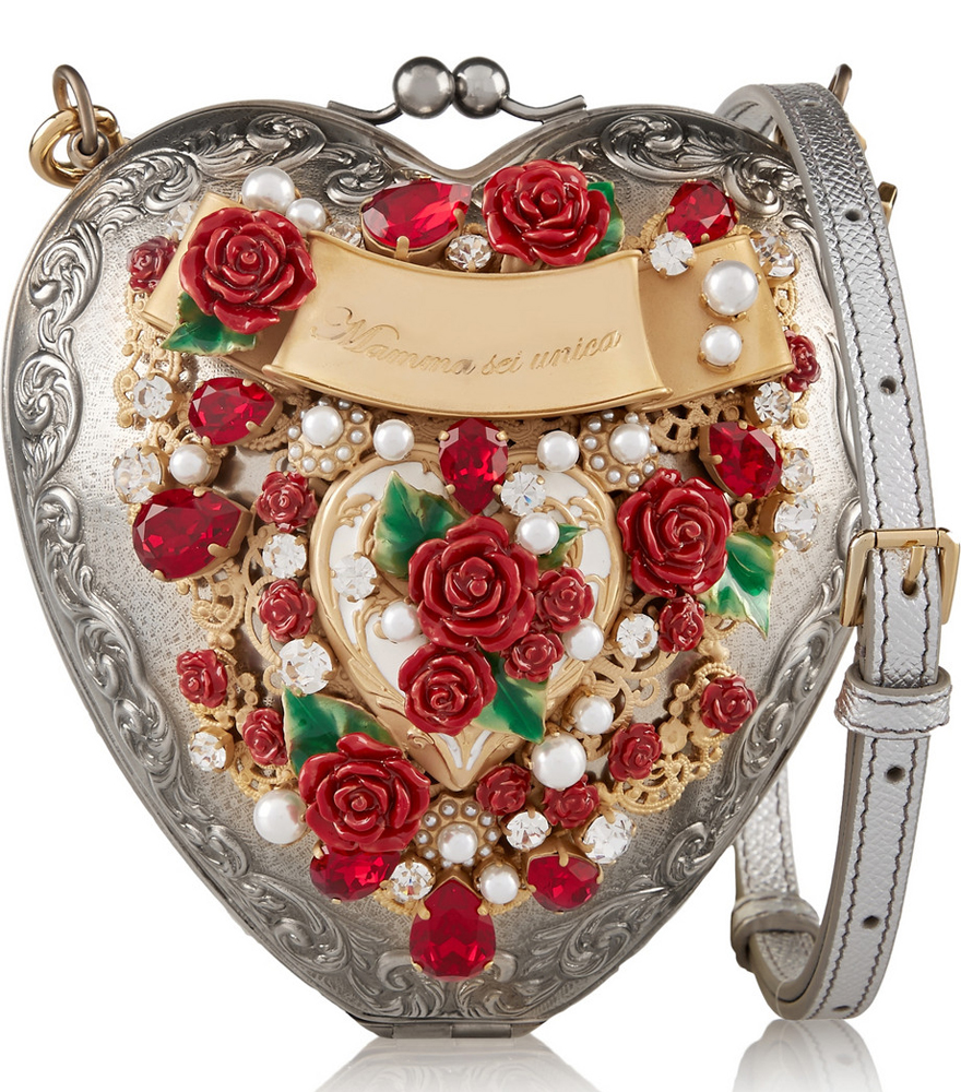 Dolce-and-Gabbana-Heart-Silver-Plated-Clutch