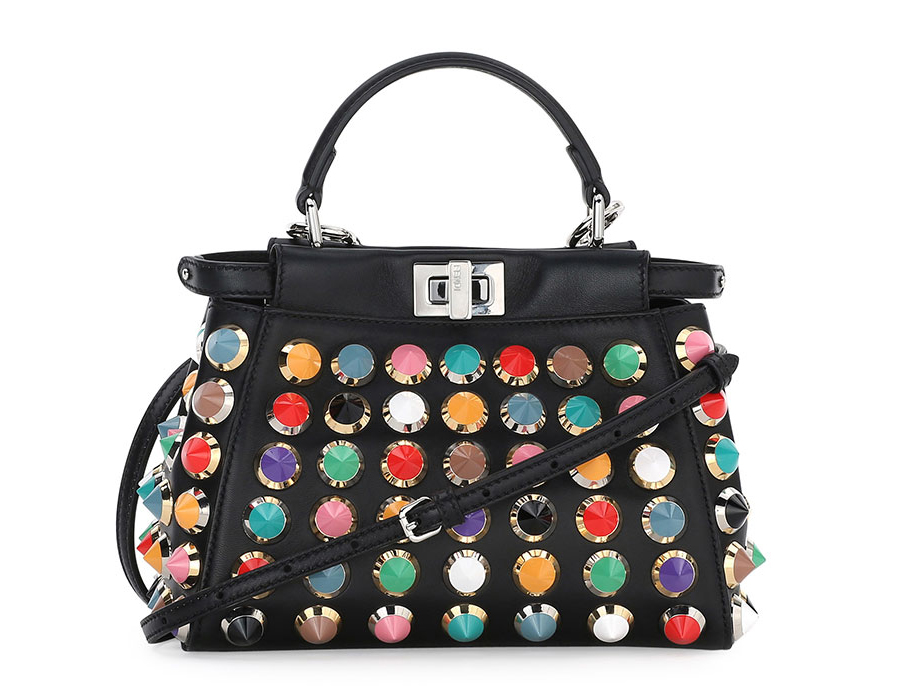 Fendi-Studded-Mini-Peekaboo-Bag
