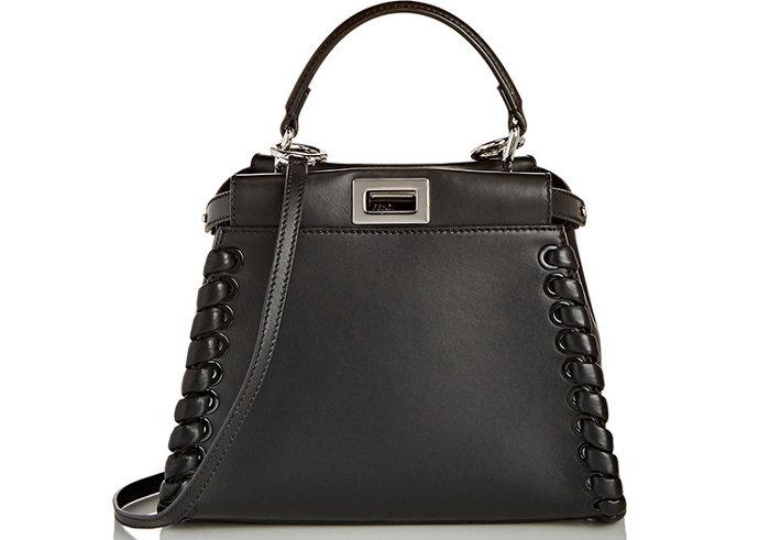 Fendi-Whipstitch-Mini-Peekaboo-Bag-Black