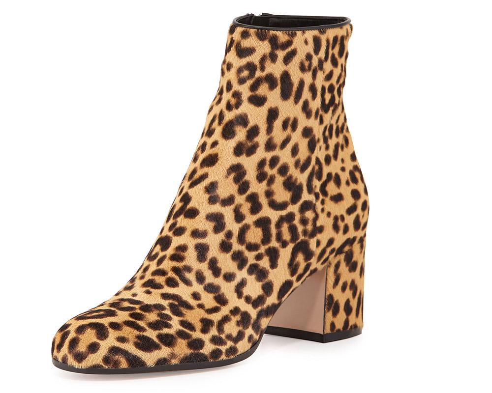 Gianvito Rossi Leopard-Print Calf Hair Boot