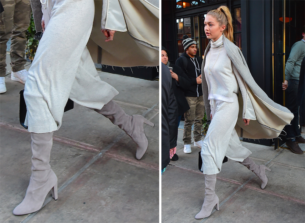 f096f8bc06 Celebs' High-End Boots were Made for Modeling but Seem Practical for  Walking, Too