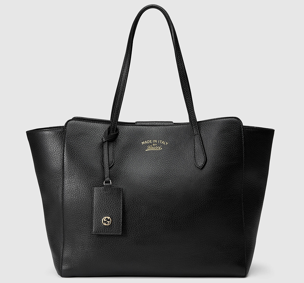 8d01b07b806e ... black Mansur Gavriel bag. #shopstyle. Gucci-Swing-Tote