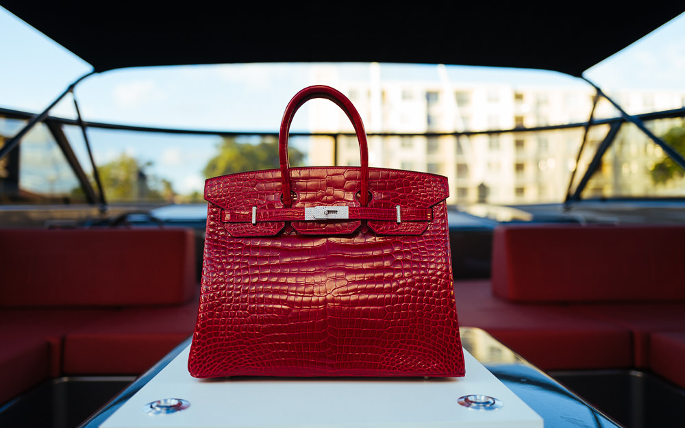 Hermes Crocodile Birkin With Diamonds