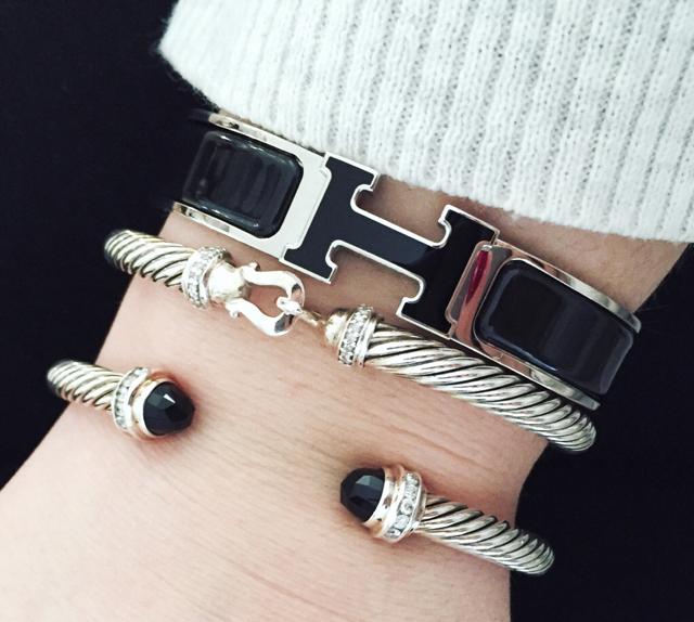 Hermes-David-Yurman-Bracelets