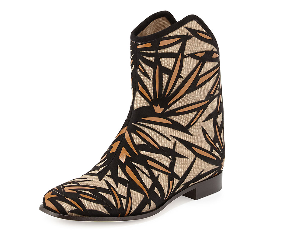 Jimmy Choo Mina Palm Canvas Bootie