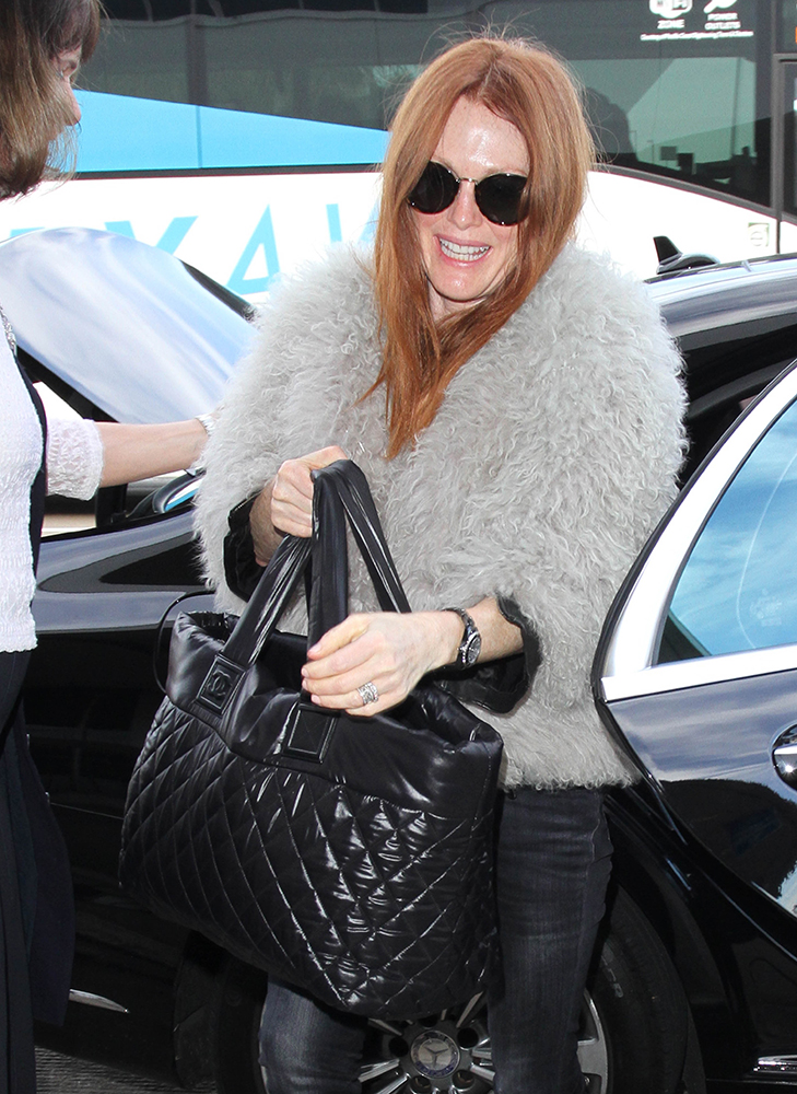 Julianne-Moore-Chanel-Coco-Cocoon-Tote