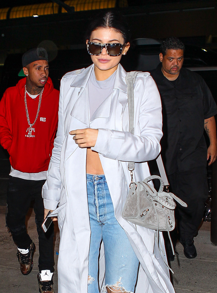 Kylie-Jenner-Balenciaga-Suede-Mini-City-Bag