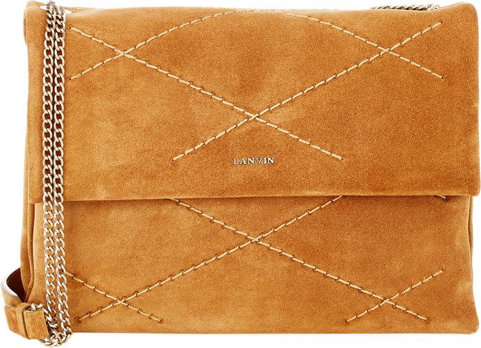 Lanvin-Suede-Sugar-Shoulder-Bag